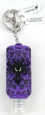 New Disney Parks Haunted Mansion Purple Wallpaper Hand Sanitizer Keychain