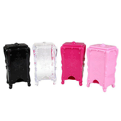 Acrylic Nail Art Cotton Pads Swab Box Case Holder Cosmetic Storage Container