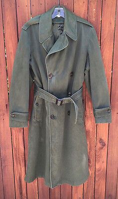 Vintage M-1950A US Army Overcoat w/ Wool Liner; Regular Small