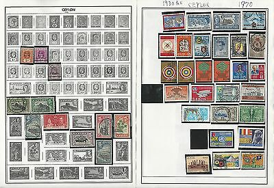 Ceylon 1886-1970 Collection on Harris Pages, 4 Pages