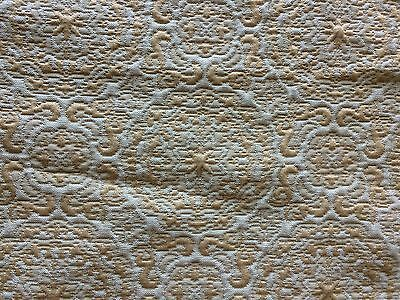 Vintage Antique Silk Brocade Fabric Frag Gold Cream Shabby Upholstery Pillows
