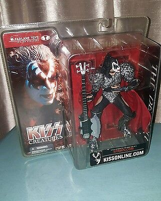 "NEW 2002 McFarlane KISS KIZZ Creatures The Demon Gene Simmons 7"" Figure"