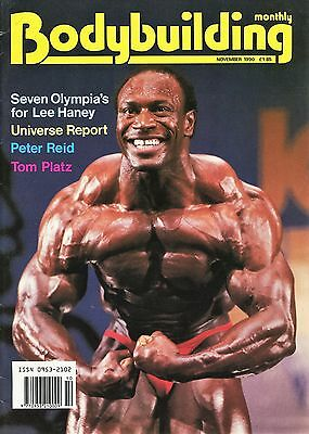 Bodybuilding Monthly November 1990 Lee Haney 8 x Mr Olympia Ultra Rare Vintage