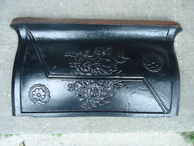 "vintage Decorative Cast Iron stove PART fireplace  22 3/4"" x 13 3/4 "" R19"