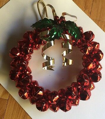 Jingle Bell Wreath  9 inch  Red and Silver Bells
