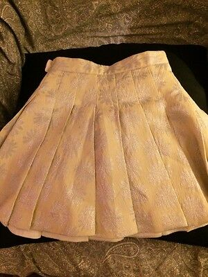 Rutzou Girls Sparkly Christmas Designer Skirt Age 3-4 Lined New With Tags