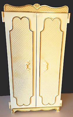 Barbie Vintage Wolverine Plastic French Bedroom Furniture Armoire/Wardrobe