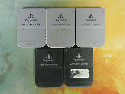 1x Offical PlayStation 1 Memory Card - Free Shipping!