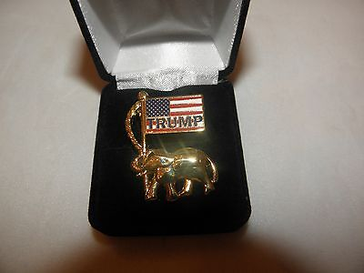 Trump President Lapel Pin Button Inauguration Keepsake Republican Usa Flag New!