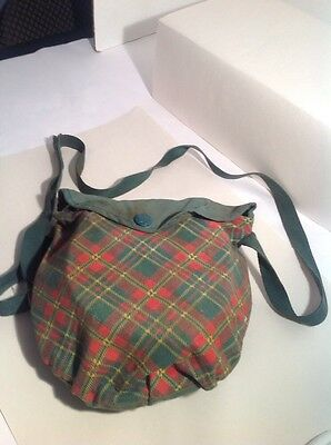 Vintage Girl Scout Cooking Mess Kit With Cloth Carrying Bag