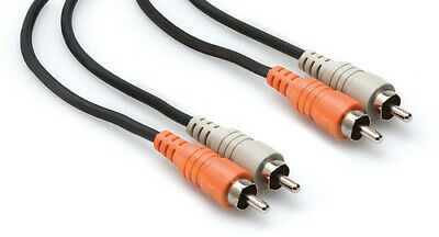 Hosa Stereo Interconnect Dual RCA to Same 6.6 ft [New ]
