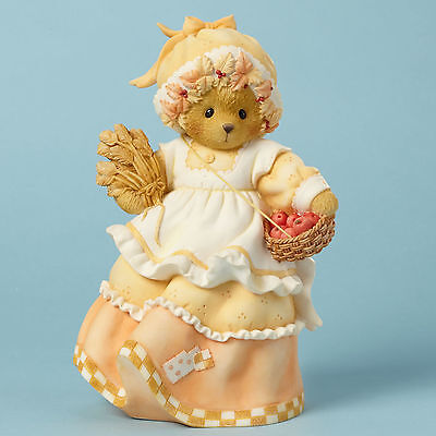 Cherished Teddies Fall Harvest Thanksgiving Elise With Basket 4040456 Sale