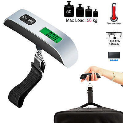 LCD Digital 50kg/110 lb Travel Electronic Luggage Scale w/ Built-In Backlight