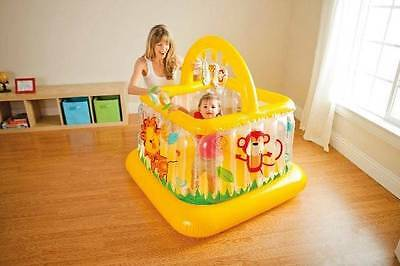Intex Soft-Sides LIL Inflatable Baby Bouncer Trampoline Baby Gym (#48473 Yellow)