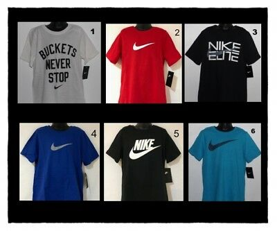 Nike Boy's T-Shirts Size Small 7-8 Medium 10-12 Large 14-16 Xl 18-20 Nwt