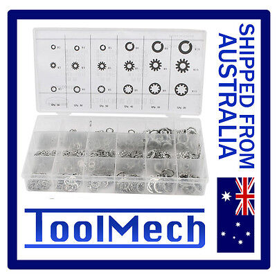 720Pc Assorted Washer Kit Set Star Toothlock Flat Spring