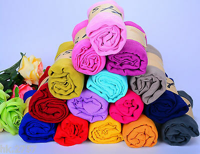 Lady women long candy colors soft cotton Scarf Wrap Shawl scarves fashion stole