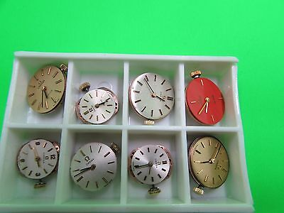 8 x OMEGA WATCH MOVEMENTS BULK SALE ==ONLY NEEDS GOOD CLEAN