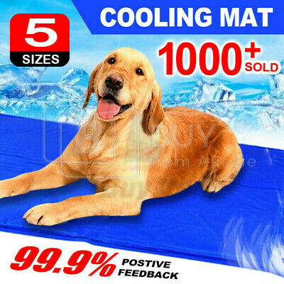 New! Pet Dog Cat Bed Non-Toxic Cooling Cool Water Cooling Gel Mat Summer Pad