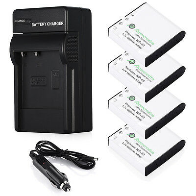 NP-40 Battery +Charger for Casio EXILIM EX-Z1050 EX-Z1000 EX-Z850 EX-Z750 Camera