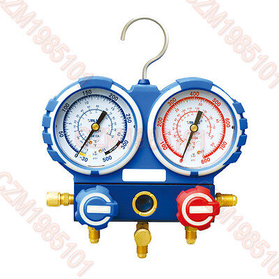 R410A AIR CONDITIONING REFRIGERATION MANIFOLD GAUGE+ Hose 60″ Accuracy Class 1.6