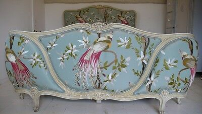 Antique French King Size Corbeille Bed Upholstered Nina Campbell Paradiso