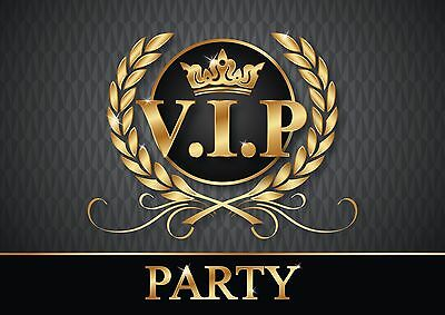 VIP-EINLADUNGEN - edles Einladungskarten-Set / Tickets zur V.I.P.Party