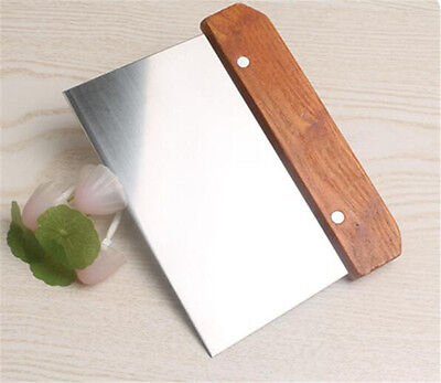 Wooden Handle Bench Dough Scraper Cake Slicer Cutter Pastry Cutter Stainless