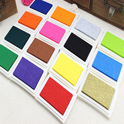 DIY Oil Based Multi Colour Ink Pad For Rubber Stamps Paper Wood Craft Fabric New