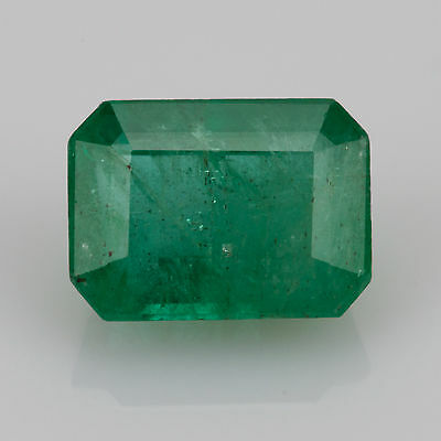 1.68 ct Emerald 7.85x5.82mm Si1 Natural loose green Zambian gemstone