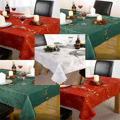 Linens Limited Angelica Christmas Dining Tableware Tablecloth/Runner/Napkins