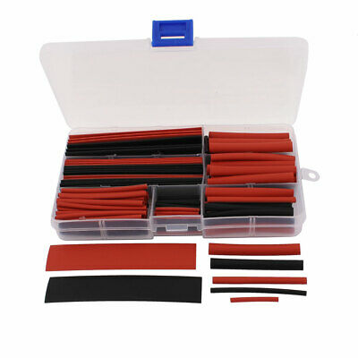 150 Pcs Heat Shrink Heatshrink Wire Cable Tubing Tube Sleeving Assorted Sizes
