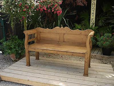 Lovely! Old Antique Victorian/edwardian Pine Hungarian/monks Bench/settle/pew