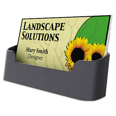 Business Card Holder, Capacity 50 3 1/2 x 2 Cards, Black