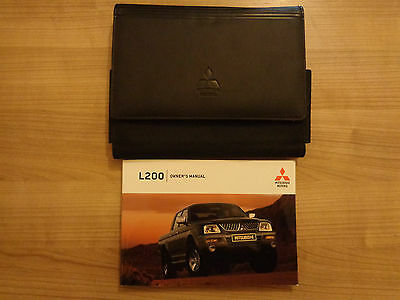 Mitsubishi L200 Owners Handbook/Manual and Wallet 05-07