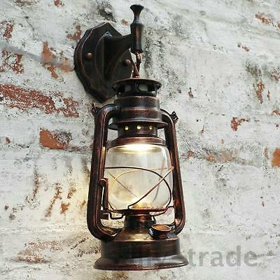 Antique Vintage Style Thrift Retro Lantern Wall Lamp Lights Nostalgia 3 Colors