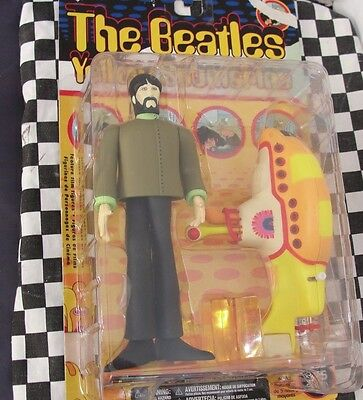 McFARLANE TOYS -THE BEATLES  GEORGE WITH YELLOW SUBMARINE  NEW OLD STOCK
