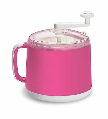 Donvier Manual Ice Cream Maker, 1-Quart, Pink