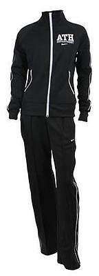 Nike Ath Dept black jade warm up womens polyester tracksuit size large 14/16