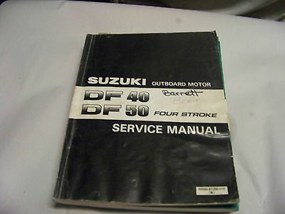 1998 Factory suzuki outboard motor service manual DF 40 DF 50 HP  four stroke
