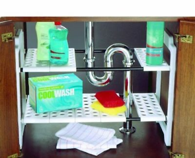 Addis Under The Sink Organiser Kitchen Storage Unit Maximise Space Easy To Fit