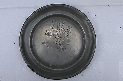 Antique Pewter Wrigglework Dated Plate