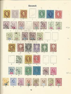 Early Sarawak collection on 3 pages. Mint & Used. Cat £1275