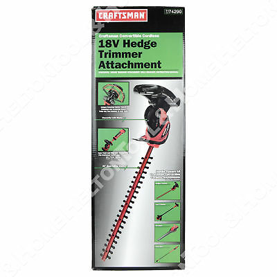 Craftsman 71-74290 Convertible Cordless Hedge Trimmer New uses 71.74299 71.74291