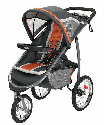 Graco FastAction Fold Click Connect Jogging Stroller - Tangerine (1934711)
