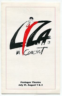 "LIZA MINNELLI Promo Brochure: ""Liza In Concert"" [Pantages Theatre, Hollywood]"