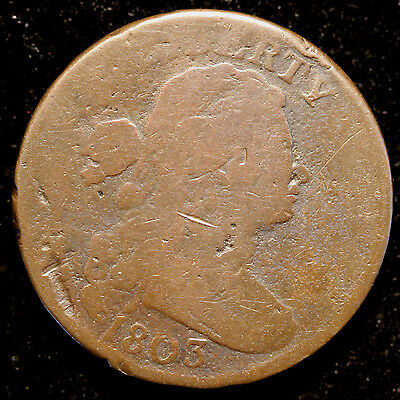 1803 S-249 Draped Bust Large Cent Corrected Fraction Variety