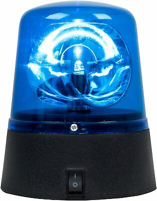 Novelty Rotating Blue LED Police Car Beacon Disco Party DJ Light Lamp Light