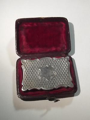 Cased 1854 Sterling Silver Vinaigrette Box