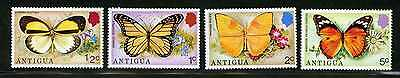 Complete Set of 7 Antigua Scott #387-393 MHN Stamps, Butterflies #48753